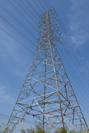 the electricity post is high-tension photo