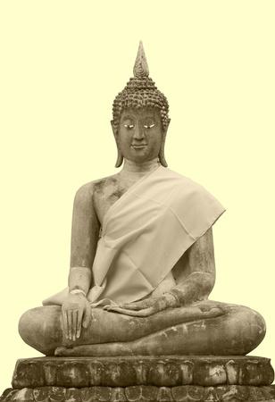 buddha in thai temple photo