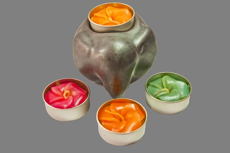 Candles used for the spa. Stock Photo - 9180068