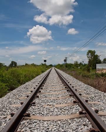railway tracks in thai photo