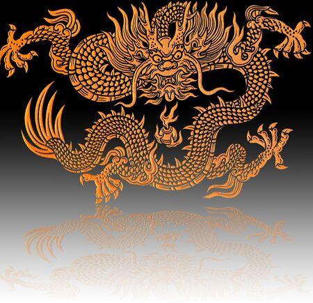 gold dragon photo