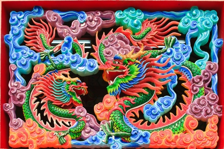Dragons in chinese temple photo