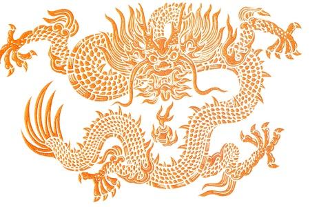 tatuaje dragon: Drag�n de oro