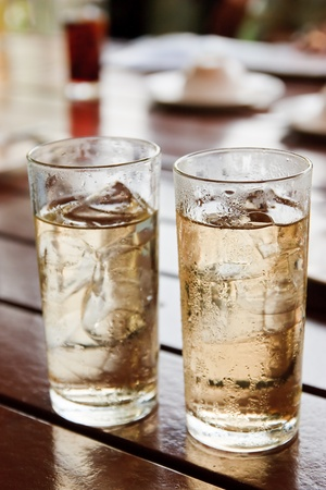 Alcohol mixed with soda. photo