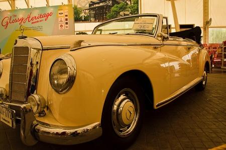classical mechanics: Future Park Rangsit - June 23: Mercedes-benz 300B Cabriolet,1955 Year.Vintage Car Concours 2011 at Future Park Rangsit, June 23, 2011 in Bangkok, Thailand.