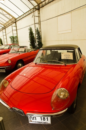 classical mechanics: BANGKOK - JUNE 25 : Alfa Romeo Duetto, Vintage cars on display in Future park shopping center to celebrate the 35th vintage car event on June 25, 2011 in Bangkok, Thailand. Editorial
