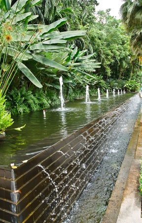 water wall in The garden. Stock Photo