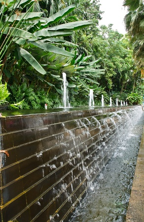water wall in The garden. photo