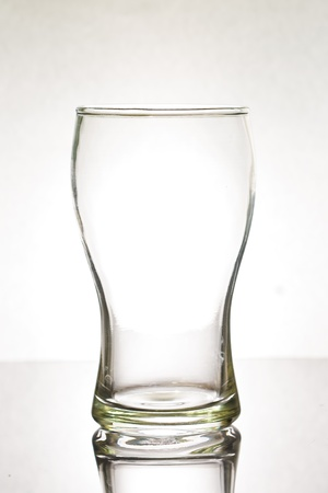 empty glass: Glass with water