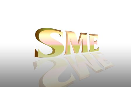 SME word symbol Stock Photo