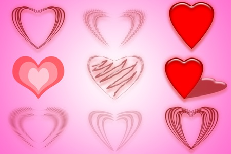red watercolor Painted Heart Stock Photo - 10960651
