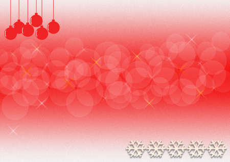 Happy New Year greeting card with red balls.  photo