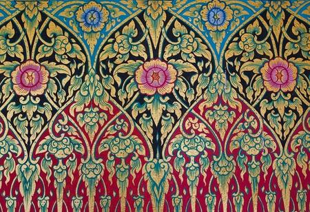 motive: Klassiker der traditionellen Thai Handarbeit Stoff Textur Hintergrund