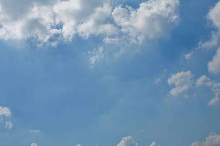 Blue sky and sun. photo