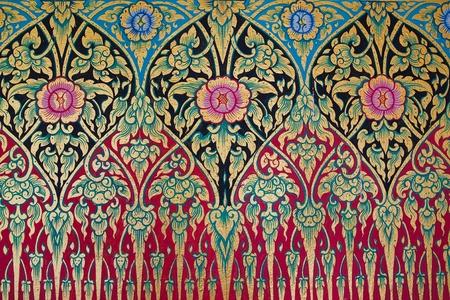 Vintage traditional Thai handmade fabric texture background Stock Photo - 11737185
