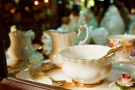 crockery: Antique porcelain tea cup