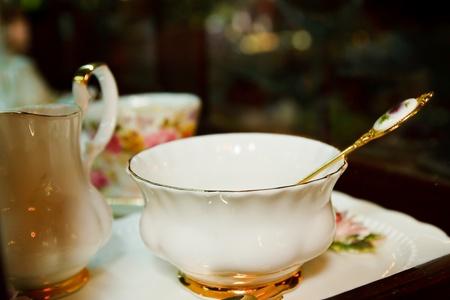 Antique porcelain tea cup photo