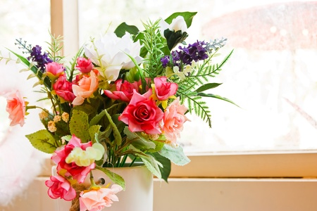 Flowers by Window photo