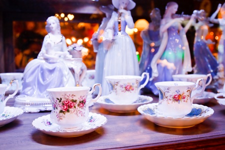 Antique porcelain tea cup