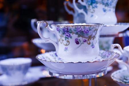 antique dishes: Antique porcelain tea cup