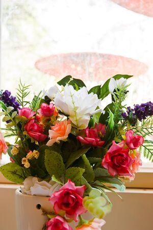 Flowers By Window photo