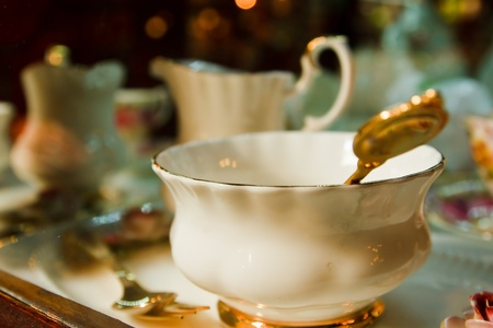Antique porcelain tea cup photo