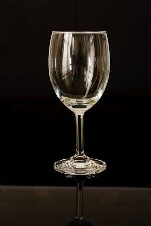single empty wine glass photo