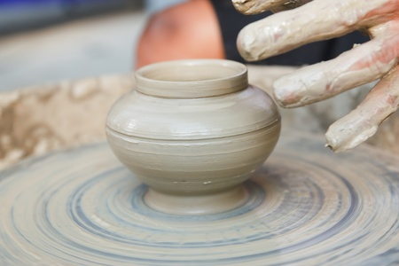 potter on the potters wheel photo