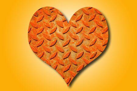 heartshaped: Steel heart-shaped. Stock Photo