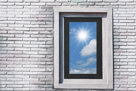 The sun outside the window. Stock Photo - 12235699