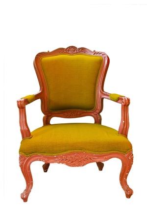 antique yellow armchair  photo