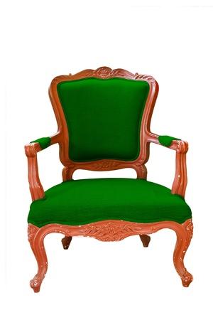 antique green armchair  photo