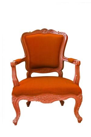 antique Orange armchair  photo
