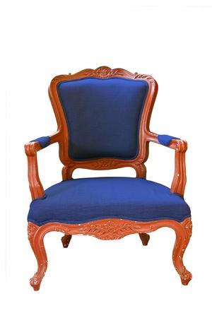 antique blue armchair  photo
