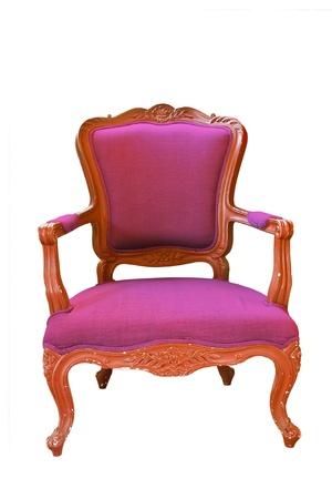 antique Purple armchair  photo