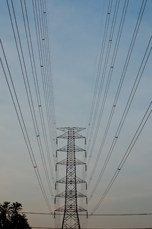 High voltage towers. Stock Photo