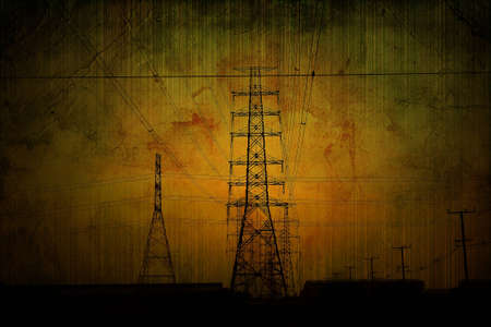 High voltage towers  photo