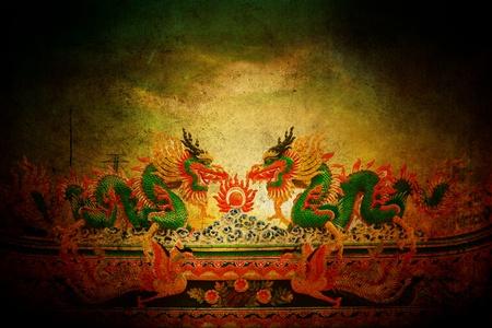 Dragons grunge style