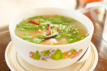 delicious thai food style  tomyum photo