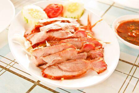 Grilled pork neck  photo