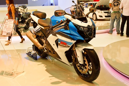 BANGKOK - MARCH 27: Suzuki on display at The 33th Bangkok International Motor Show on March 27, 2012 in Bangkok, Thailand. Stock Photo - 13226419