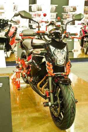 BANGKOK - MARCH 27: Kawasaki on display at The 33th Bangkok International Motor Show on March 27, 2012 in Bangkok, Thailand. Stock Photo - 13226442