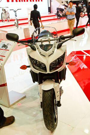 BANGKOK - MARCH 27: Yamaha on display at The 33th Bangkok International Motor Show on March 27, 2012 in Bangkok, Thailand. Stock Photo - 13226407