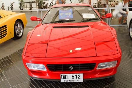 BANGKOK - JUNE 24   Ferrari 512 TR 1993 Year, Vintage cars on display in Future park shopping center to celebrate the 36Th vintage car event on June 24, 2012 in Bangkok, Thailand