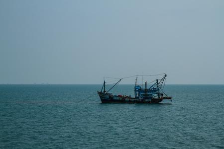chang: Fishing boats in Koh Chang Thailand Editorial
