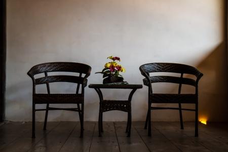 darkroom: Chair in a dark room