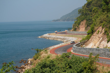 road sea Archivio Fotografico