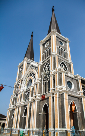road autumnal: Cathedral of Mary Immaculate Conception, Chanthaburi
