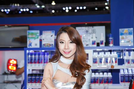 BANGKOK - MARCH 30   Unidentified model on display at The 35th Bangkok International Motor Show on March 30, 2014 in Bangkok, Thailand
