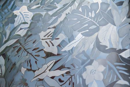 pattern on glass 版權商用圖片